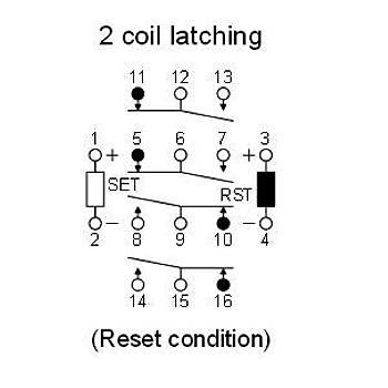 SP4-L2-DC48V 48VDC 4 Kontaklý Latch Röle NAÝS