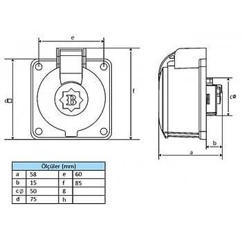 3x25A Trifaze Polyamid Makine Prizi BP2-2504-4415 BEMÝS