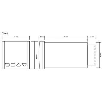 DS-48 230VAC 48x48mm Ýleri/Geri Dijital Sayýcý (Counter) TENSE
