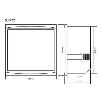 DJ-V72 72x72mm Dijital Voltmetre TENSE