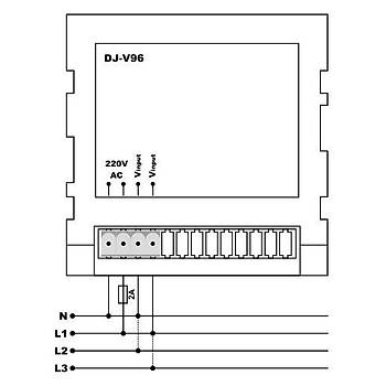 DJ-V96 96x96mm Dijital Voltmetre TENSE
