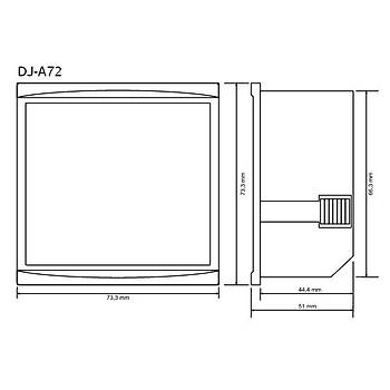DJ-A72 72x72mm Dijital Ampermetre TENSE