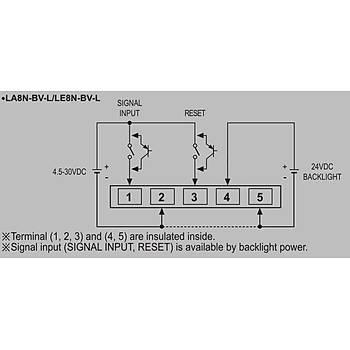 LA8N-BV-L 48x24mm 8 Haneli LCD Pilli Ledli (Sadece Gösterge) AUTONICS