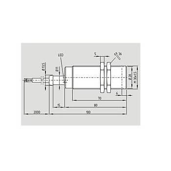 IFL 10-30-10ZTG M30 15...250VAC NO 2 Uçlu 10mm Algýlamalý Kablolu Ýndüktif Sensör SCHMERSAL