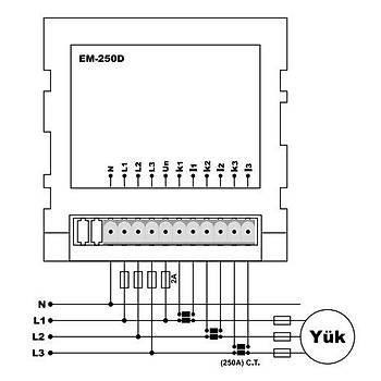 EM-250D Multimetre (CT-300, Pano Tipi) TENSE