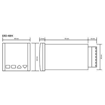 ERD-48M 13 Farklı Çalışma Modlu 48x48mm Dijital Zaman Rölesi TENSE