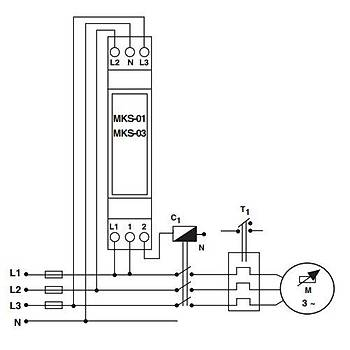 MKS-03 Faz Sýralý Motor (Faz) Koruma Rölesi ENTES
