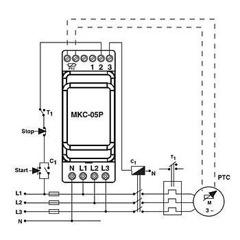 MKC-05P PTC'li Faz Sýralý Ayarlanabilir Asimetrili Motor (Faz) Koruma Rölesi ENTES