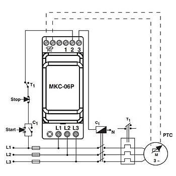 MKC-06P PTC'li Nötrlü Faz Sýralý Ayarlanabilir Asimetrili Motor (Faz) Koruma Rölesi ENTES