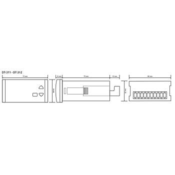 DT-311 PTC 36x72mm Dijital Isý Kontrol Cihazý (Prob Hariç) TENSE
