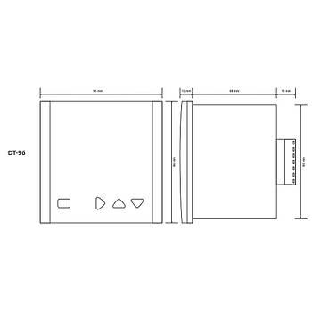 DT-96 Termokupl Tipi Seçilebilir 96x96mm Dijital PID Isý Kontrol Cihazý TENSE
