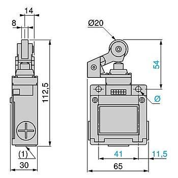 XCKM121 Plastik Makaralý Kollu Limit Siviç SCHNEIDER