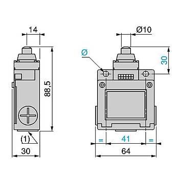 XCKM110 Metal Pimli Dikey Hareketli Limit Siviç SCHNEIDER