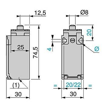 XCKP2110P16 Metal Pimli Limit Siviç SCHNEIDER