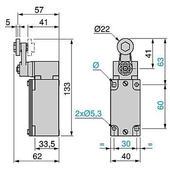 XCKJ10513 Hareketli Kollu Metal Makaralý Limit Siviç SCHNEIDER