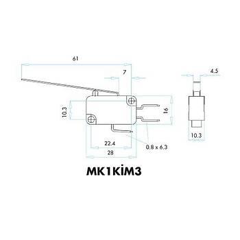 MK1KÝM3 Uzun Metal Palet Kollu Mikro Siviç EMAS