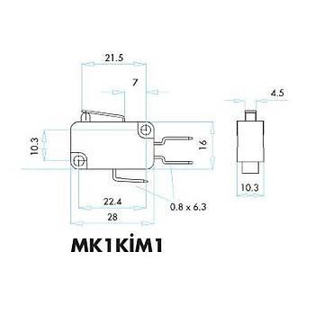 MK1KÝM1 Kýsa Metal Palet Kollu Mikro Siviç EMAS