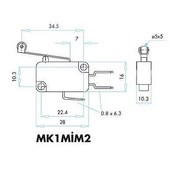 MK1MÝM2 Uzun Kollu Metal Makaralý Mikro Siviç EMAS