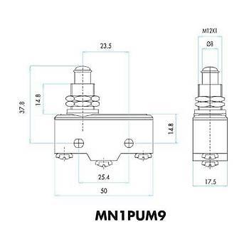 MN1PUM9 Kalın Uzun Metal Pimli Asal Siviç EMAS