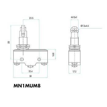 MN1MUM8 Metal Makaralý (Eksene Dik) Pimli Asal Siviç EMAS