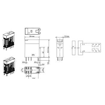 G2R-2-SN 230VAC 5A 2CO (DPDT) Kontaklý Genel Amaçlý Röle OMRON