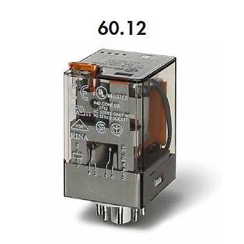 60.12 24VAC 10A 2CO (DPDT) Kontaklý 8 Pinli Genel Amaçlý Güç Rölesi FINDER