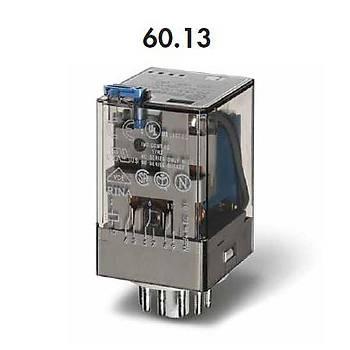 60.13 24VDC 10A 3CO (3PDT) Kontaklý 11 Pinli Genel Amaçlý Güç Rölesi FINDER