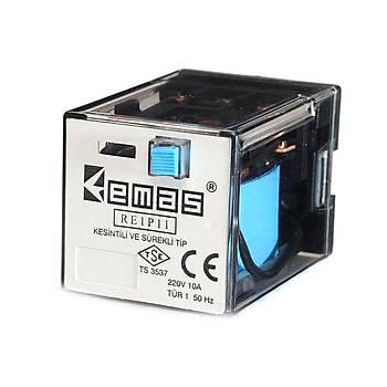 RE1P11 12VDC 10A 3CO (3PDT) Kontaklý 11 Pinli Genel Amaçlý Güç Rölesi EMAS