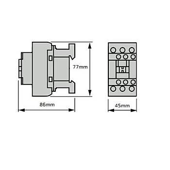 LC1D18M7 18A (7,5 KW) 220VAC Bobinli Trifaze Güç Kontaktörü SCHNEIDER