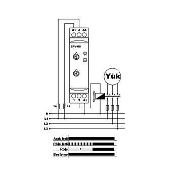 ERV-08 Multifonksiyonlu Zaman Rölesi TENSE