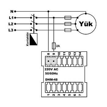 DHM-48 Dijital Ýþ Güç Zaman Saati TENSE