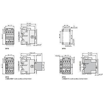 AF12-30-10-13 12A (5,5 KW) 100-250V AC/DC Bobinli Trifaze Güç Kontaktörü ABB