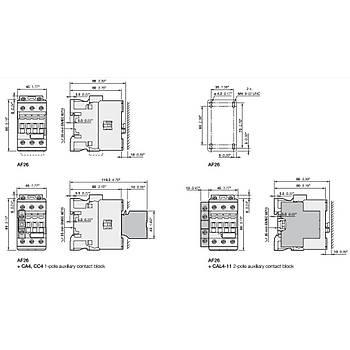 AF38-30-00-11 38A (18,5 KW) 20-60V AC/DC Bobinli Trifaze Güç Kontaktörü ABB