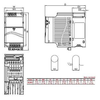 VFD007E21T 0,75 KW Tek Faz 220VAC Beslemeli Sürücü DELTA