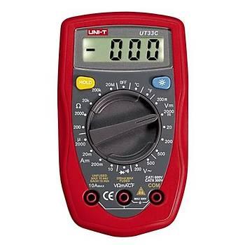 UT 33C El Tipi Dijital Multimetre UNI-T