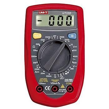 UT 33D El Tipi Dijital Multimetre UNI-T