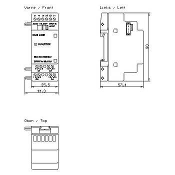 6ED1 055-1FB00-0BA1 DM8 230R Geniþleme Modülü LOGO SIEMENS