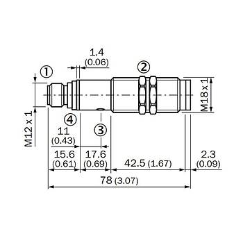 VTE18-4P4240 M18 Cisimden Yansýmalý Fotosel Sensör 6013263 SICK