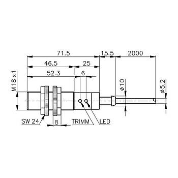 PA18CLD04TCSA M18 40cm Cisimden Yansýmalý Fotosel Sensör CARLO GAVAZZI