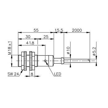 PA18CST10PA + PA18CST10 M18 10mt Karþýlýklý Fotosel Sensör CARLO GAVAZZI