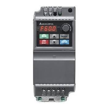 VFD004EL21A 0,4 KW Tek Faz 220VAC Beslemeli Sürücü DELTA