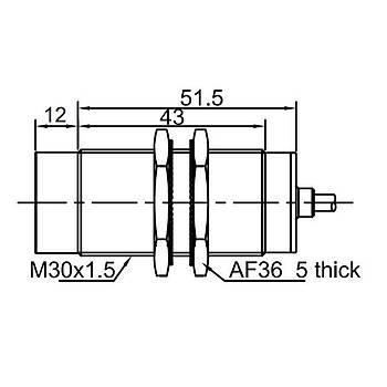 LR30TBN15DPOW Yüksek Isýya Dayanýklý M30 Ýndüktif Sensör LANBAO