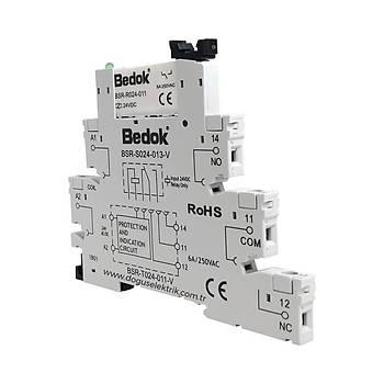 BSR-T024-011-V 24VDC Vida Baðlantýlý Slim Röle + Soket BEDOK