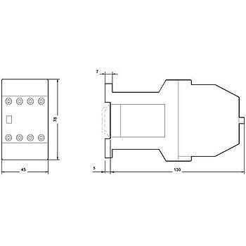 3TH42 53-0BB4 24VDC 5NO + 3NC Yardýmcý Kontaktör SIEMENS