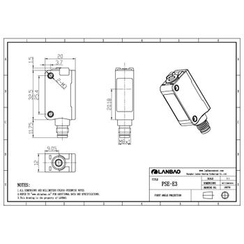 PSET-BC100DPB-E3 100cm Cisimden Yansýmalý Fotosel LANBAO