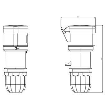 5x32A CEE Norm Trifaze Uzatma Prizi 313.3247 SCAME