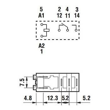 46.61 24VDC 16A 1CO (SPDT) Kontaklý Genel Amaçlý Röle FINDER
