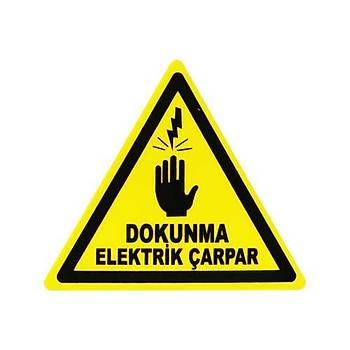 91mm Yapışkanlı Dokunma Elektrik Çarpar İşareti (Sticker)