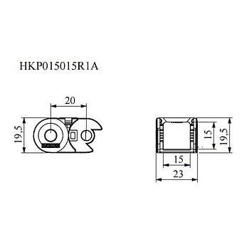 15x15mm Hareketli Kablo Taþýma Kanalý HKP015015R1A EMAS