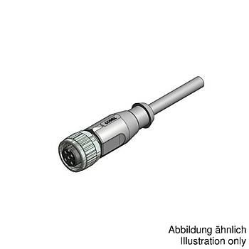 M12 4 Pinli 5m Kablolu Düz Konnektör 43-10022 CONEC
